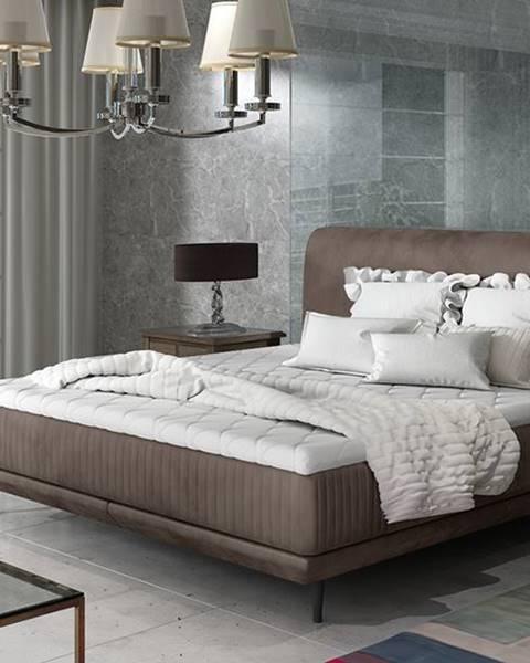 Hnedá posteľ NABBI