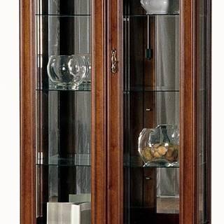 Raweno R-W2 rustikálna vitrína s osvetlením toffi