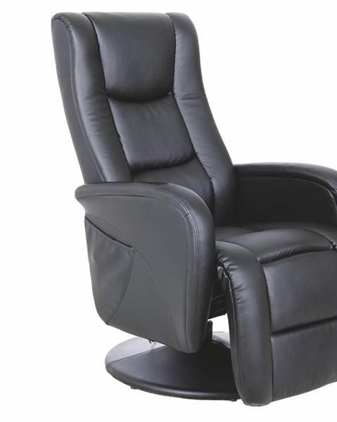 Čierne kreslo Halmar