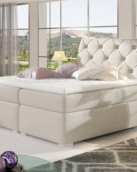 Béžová posteľ NABBI