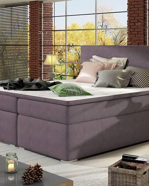 Fialová posteľ NABBI