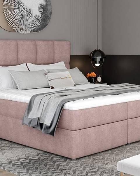 Ružová posteľ NABBI