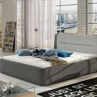 Portima 180 čalúnená manželská posteľ sivá