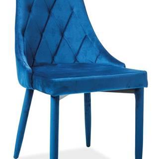 Trix Velvet jedálenská stolička granátová