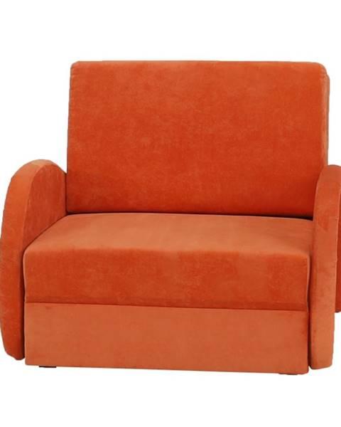 Oranžové kreslo Tempo Kondela