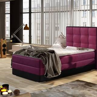 Alessandra 90 P čalúnená jednolôžková posteľ vínová