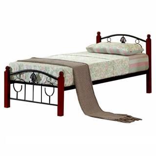 Magenta 90 kovová jednolôžková posteľ s roštom čierna