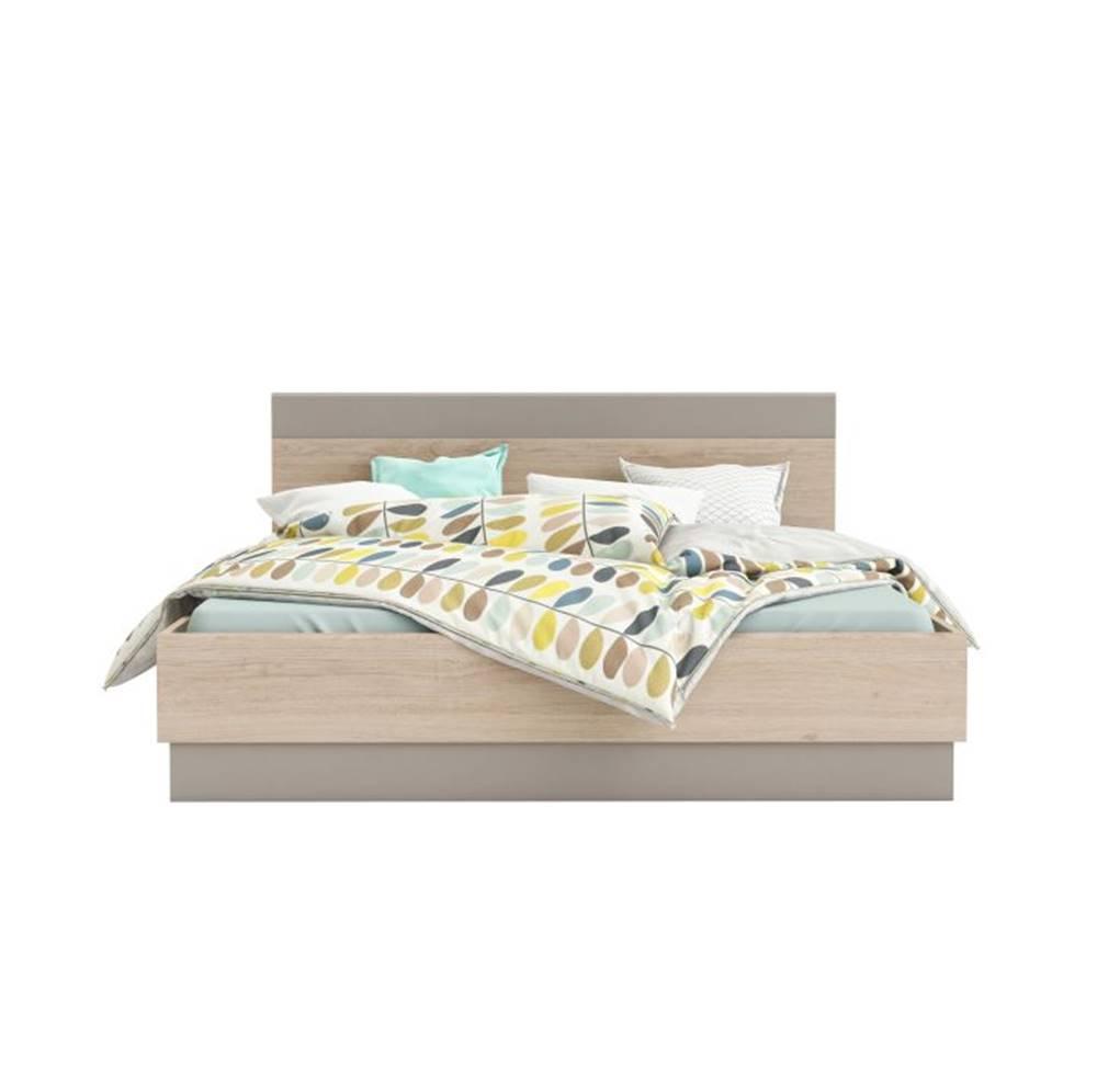 Tempo Kondela Graphic Typ 3 160 manželská posteľ dub arizona