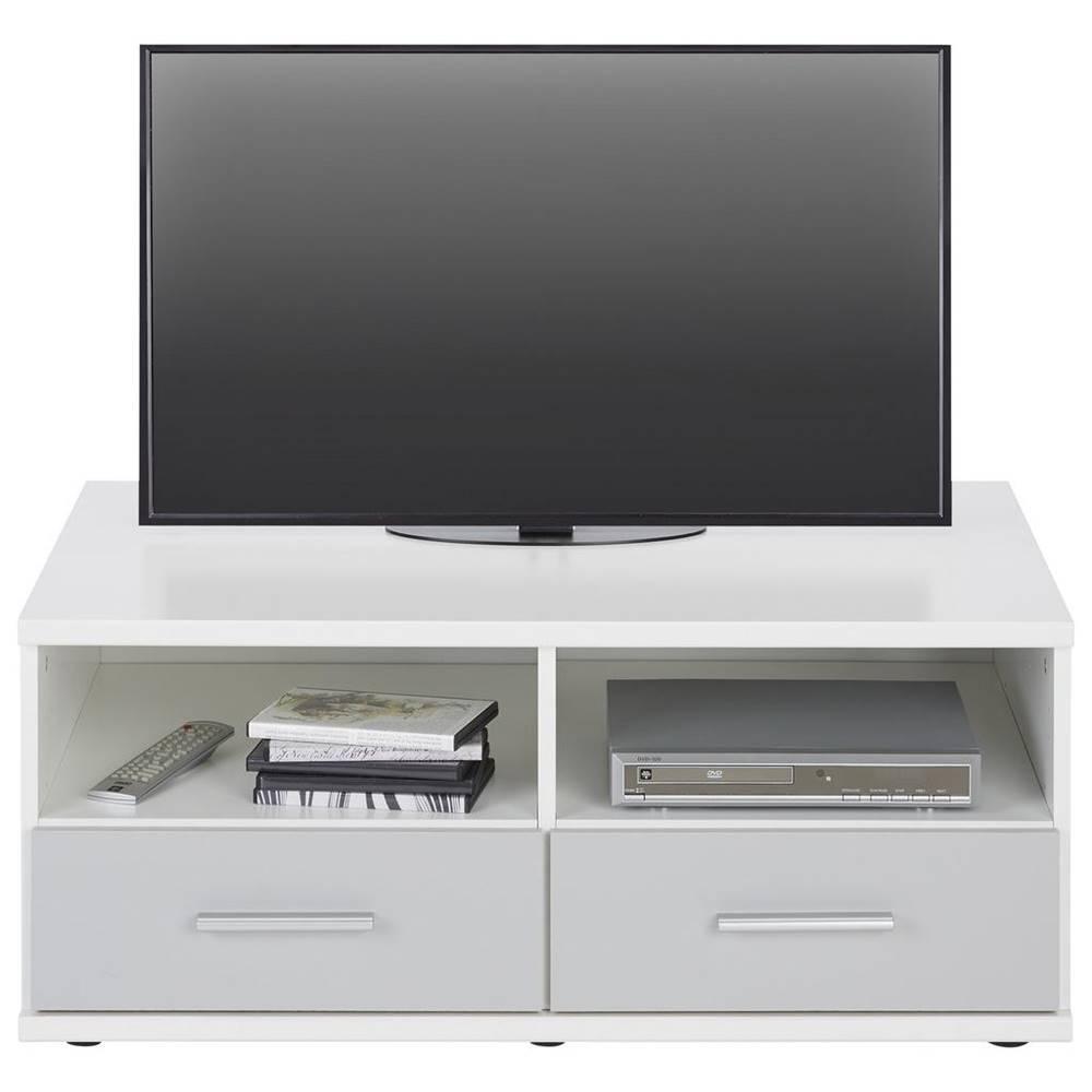 Möbelix Tv-diel Young V Dekore Biela/svetlo sivá