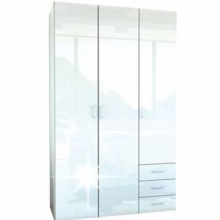 Skriňa 3 - dverová biela extra vysoký lesk HG GWEN 70427