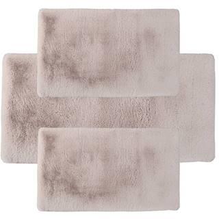 Spálňový set 3 ks luxusný shaggy koberec béžová KAMALA LUX TYP 3