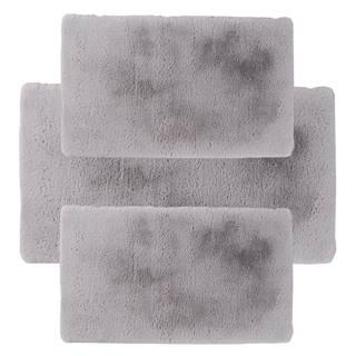 Spálňový set 3 ks luxusný shaggy koberec sivá KAMALA LUX TYP 2