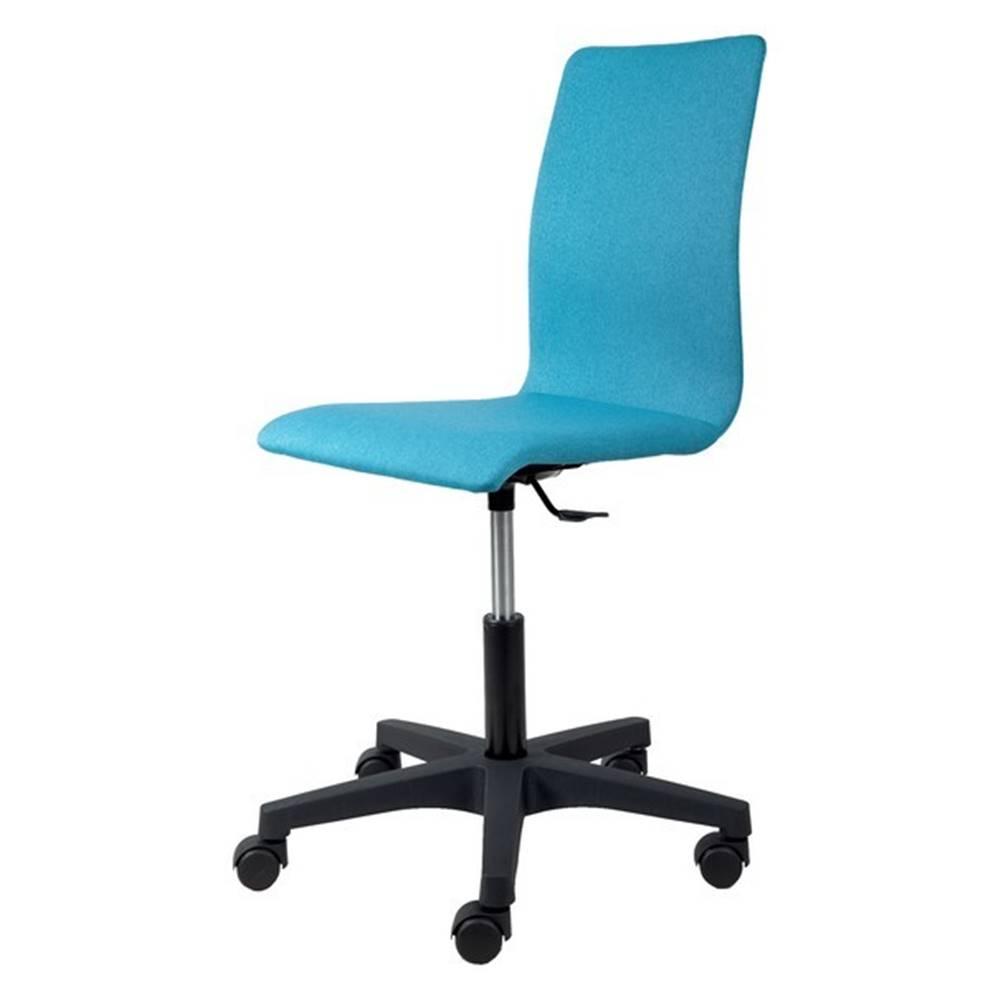 Sconto Kancelárska stolička FLEUR tyrkysová