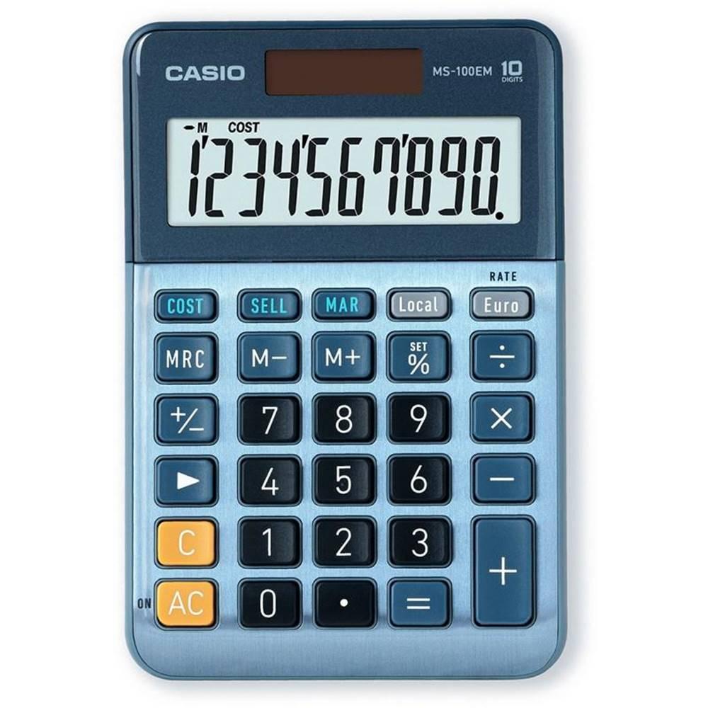 Casio Kalkulačka Casio MS 100 EM modr
