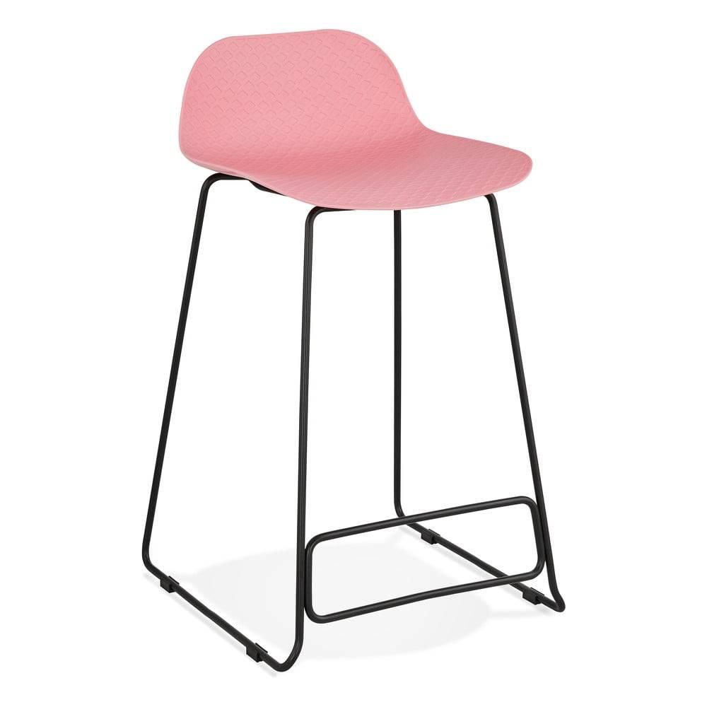 Kokoon Ružová barová stolička Kokoon Slade Mini, výška sedu 66 cm