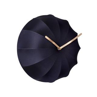 Tmavomodré nástenné hodiny Karlsson Stretch,ø40 cm
