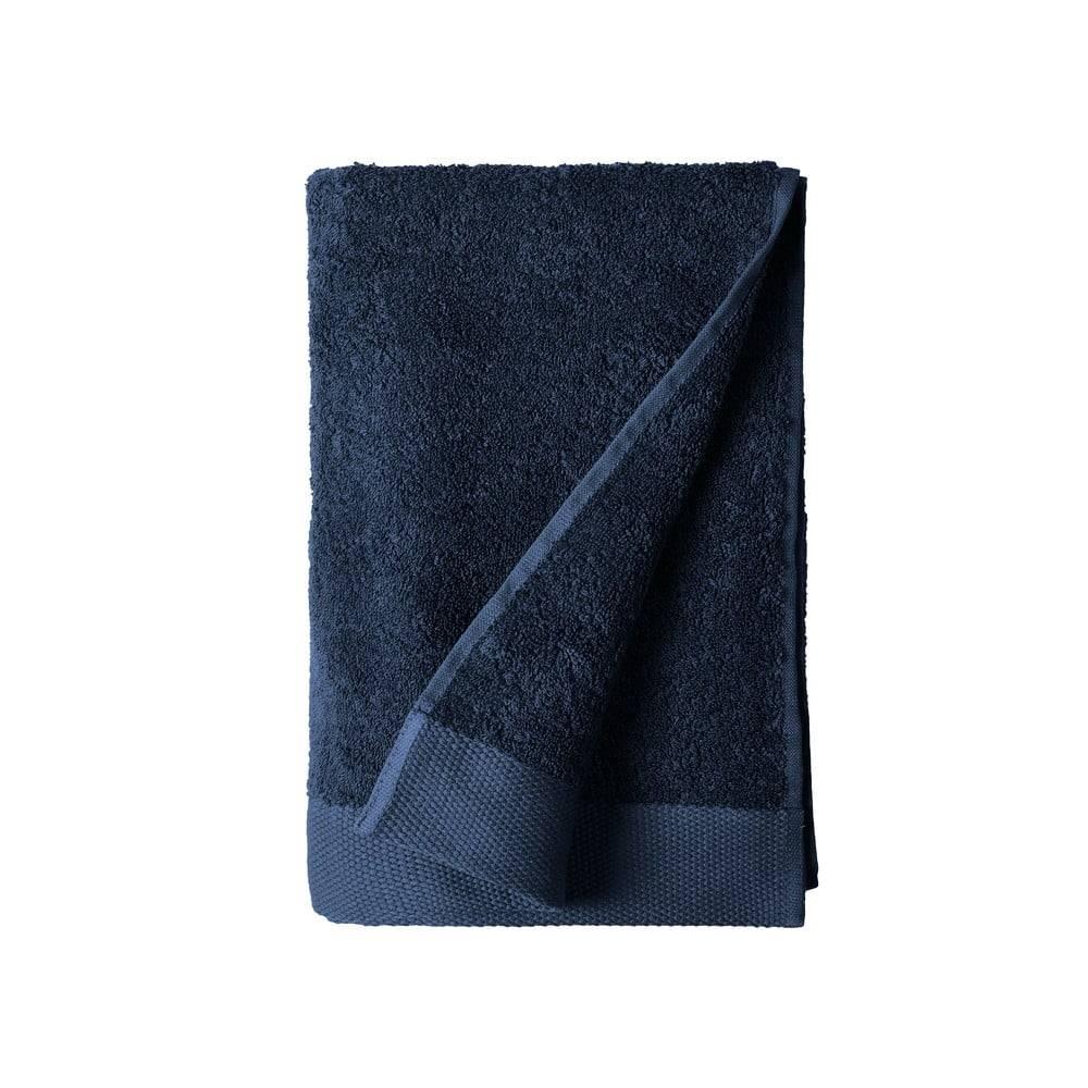 Södahl Modrá osuška z froté bavlny Södahl Indigo, 140 x 70 cm