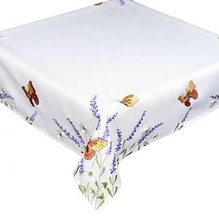 Forbyt Obrus Motýle a levanduľa, 85 x 85 cm