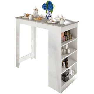 Barový stôl biela/betón AUSTEN