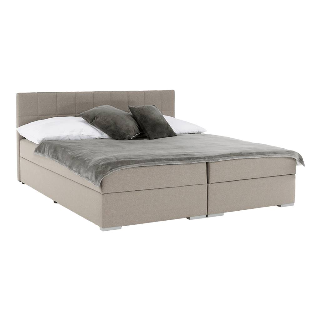 Tempo Kondela Boxspringová posteľ 160x200 sivohnedá TAUPE FERATA TV KOMFORT