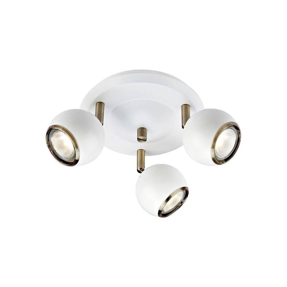 Markslöjd Biele stropné svietidlo s detailmi v zlatej farbe Markslöjd Coco
