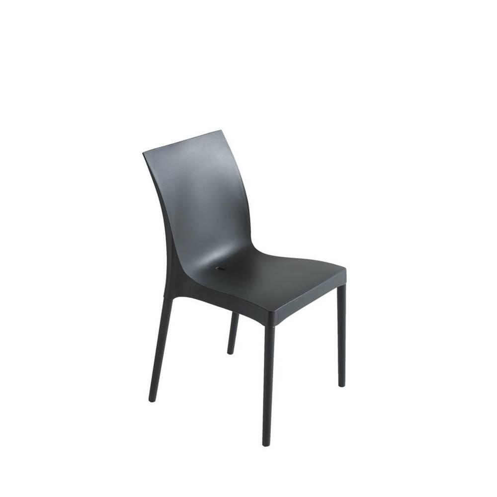 Möbelix Plastová stolička Eset Čierna