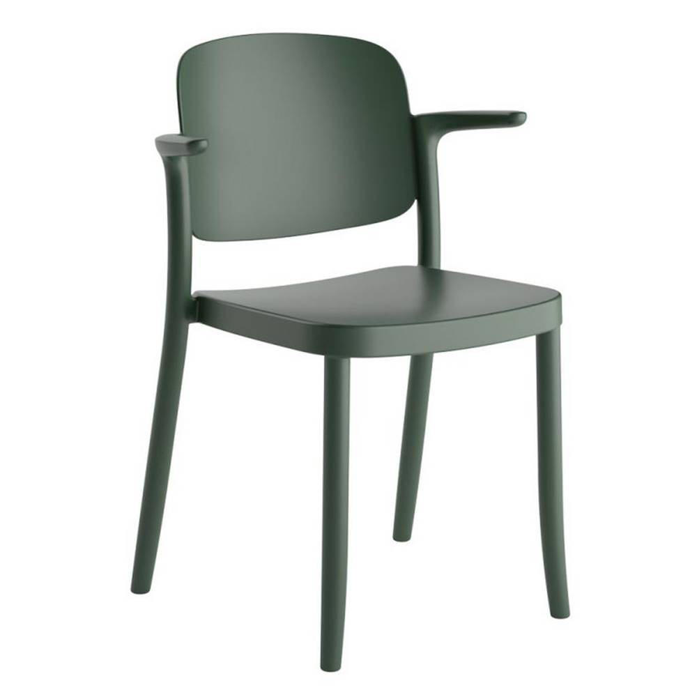 Möbelix Plastová stolička s podrúčkami Plaza Zelená
