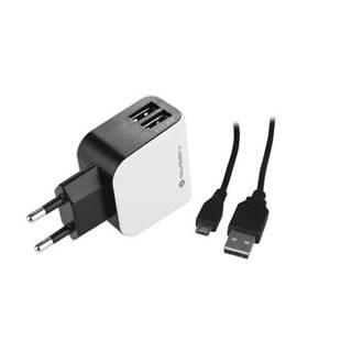 Nabíjačka do siete Gogen ACH 201 C, 2x USB + microUSB kabel 1,2m