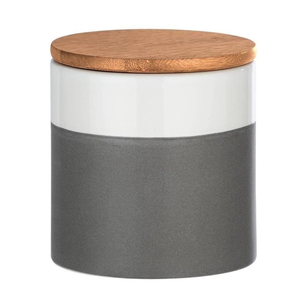 Wenko Keramický úložný box s bambusovým vekom Wenko Malta, 450 ml