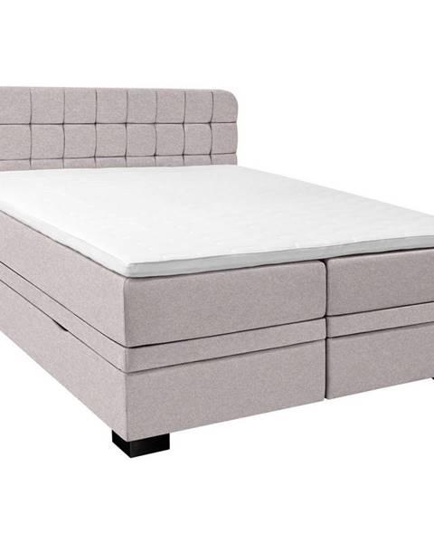 Béžová posteľ Elegando