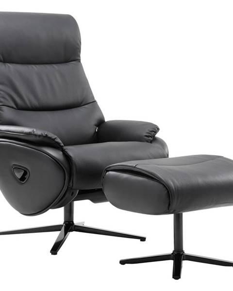 Čierne kreslo Xora