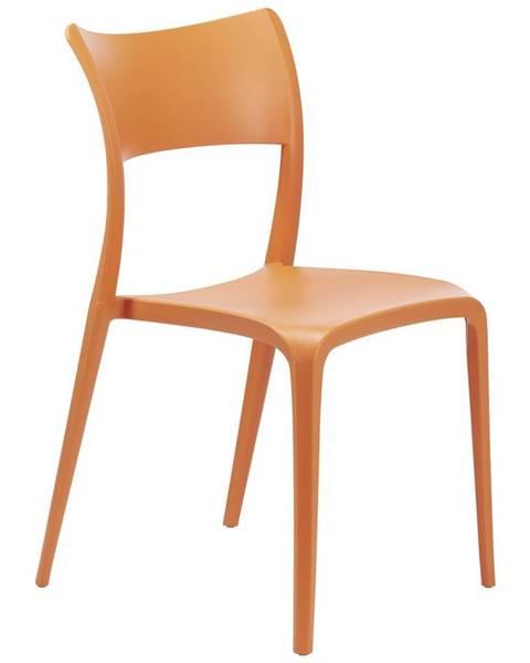 Oranžové kreslo Möbelix
