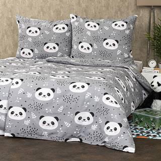 4Home Krepové obliečky Nordic Panda, 140 x 200 cm, 70 x 90 cm