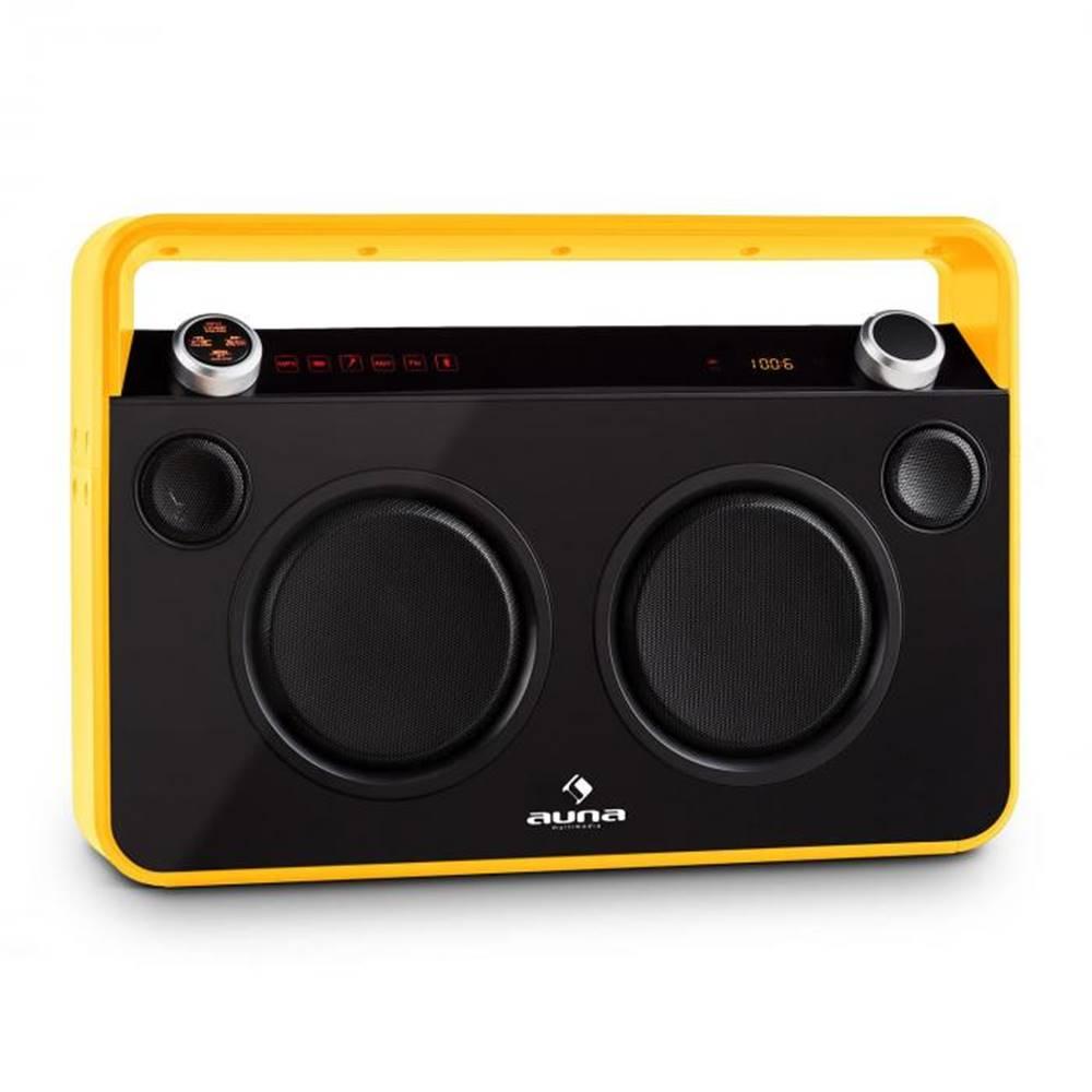 Auna Auna Bebop Ghettoblaster, žltý, USB bluetooth AUX MIC