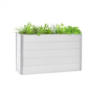 Blumfeldt Nova Grow, záhradný záhon, 150 x 91 x 50 cm, WPC, drevený vzhľad, biely