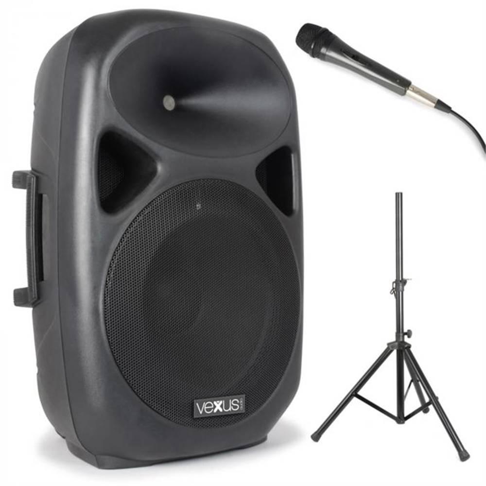 Vexus Vexus SPS152 PA reproduktorová sada, 600 W max., bluetooth, USB, SD, MP3, AUX, statív, mikrofón