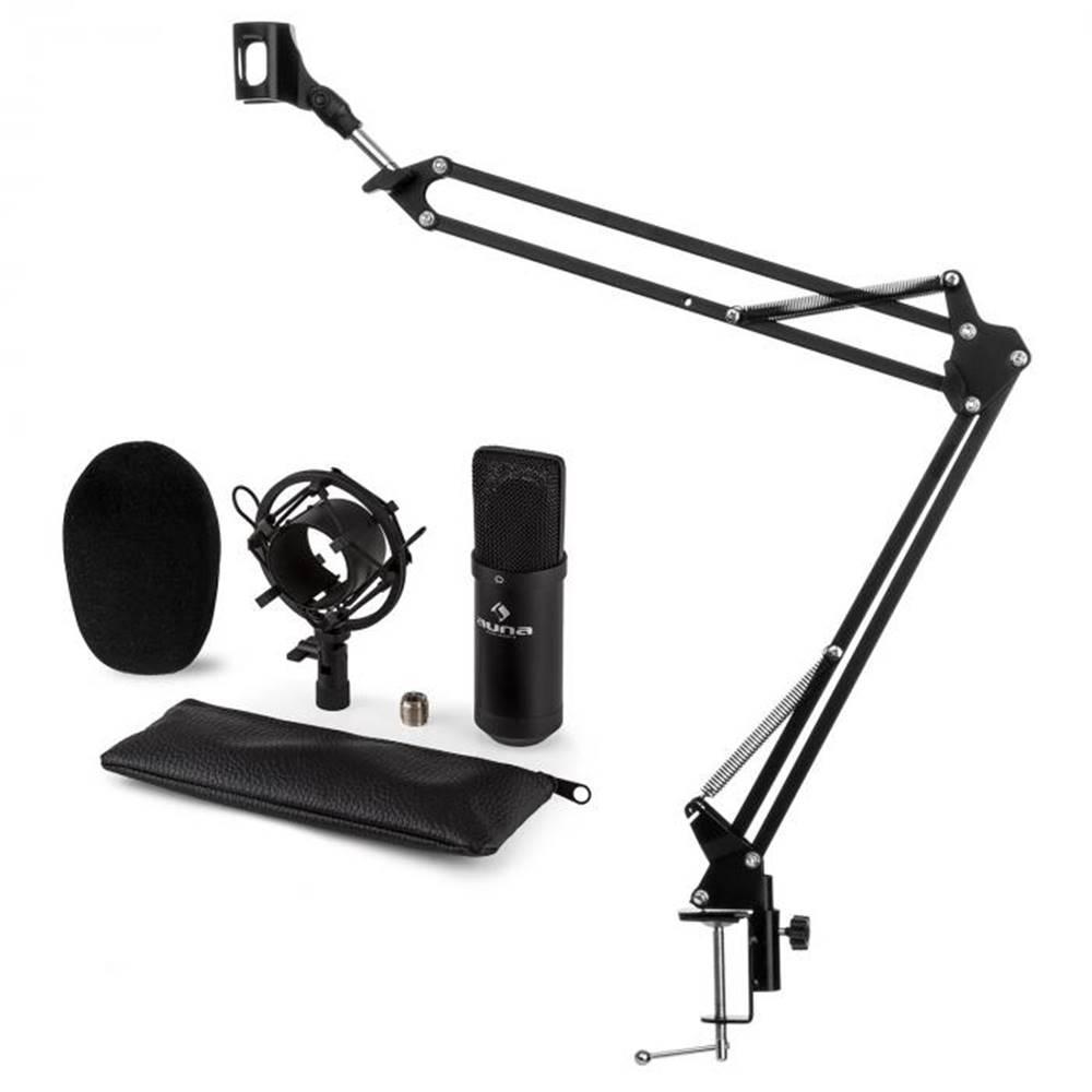 Auna Auna CM001B mikrofónová sada V3, kondenzátorový mikrofón, mikrofónové rameno, čierna farba