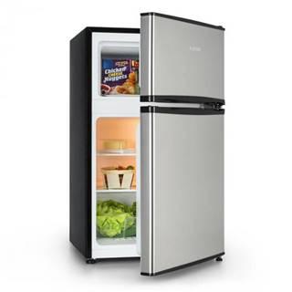Klarstein Big Daddy Cool, chladnička s mrazničkou, 65/25 litrov, ušľachtilá oceľ, A+, strieborná