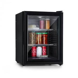 Klarstein Brooklyn 42, chladnička, energetická trieda A, sklenené dvere, čierny interiér, čierna