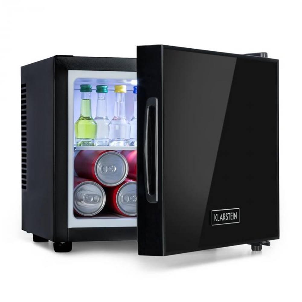 Klarstein Klarstein Frosty, mini chladnička, energetická trieda A, dvere so zrkadlovým sklom, 10 litrov, čierna