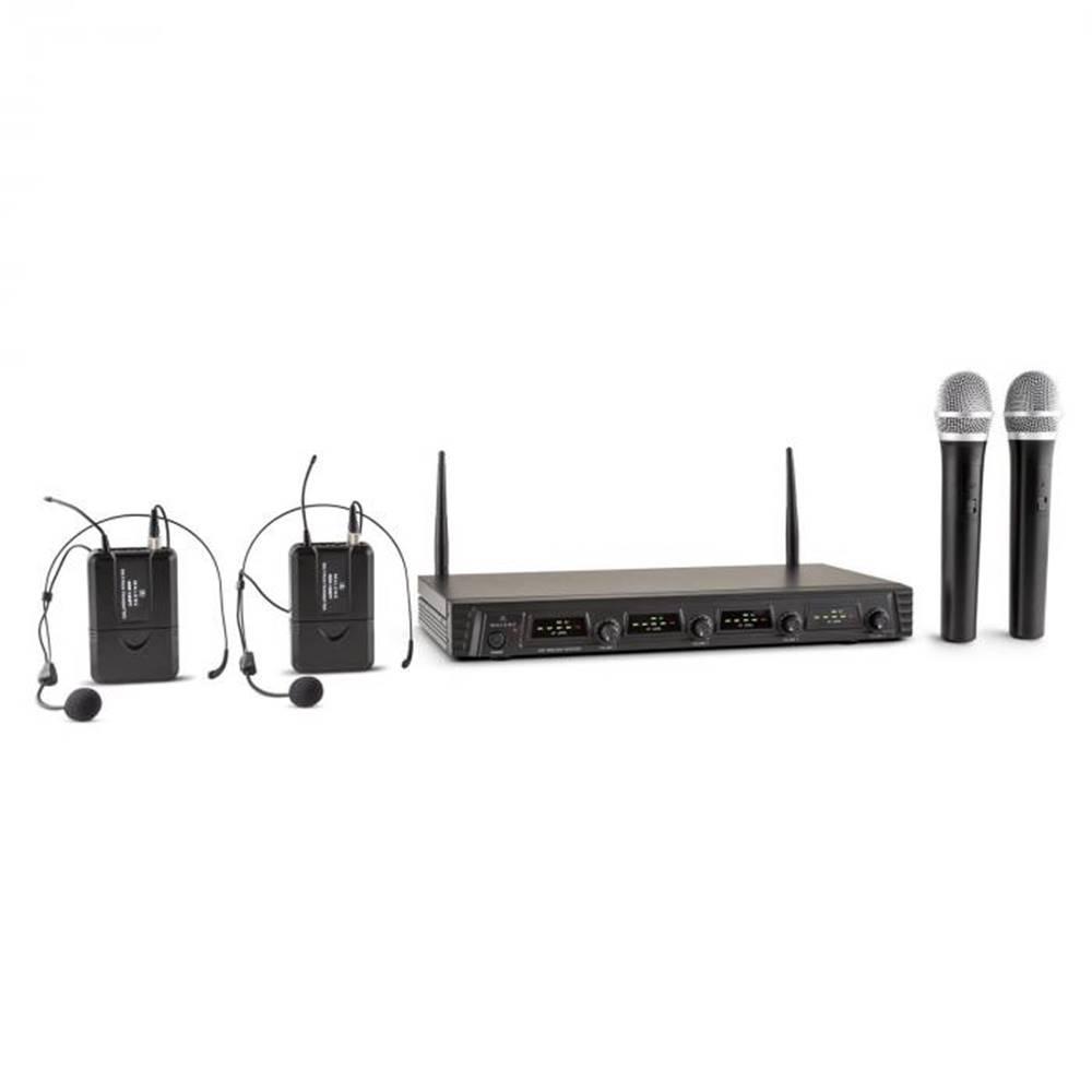 Malone Malone Duett Quartett Fix, V2, 4-kanálový UHF bezdrôtový mikrofónový set, dosah 50 m