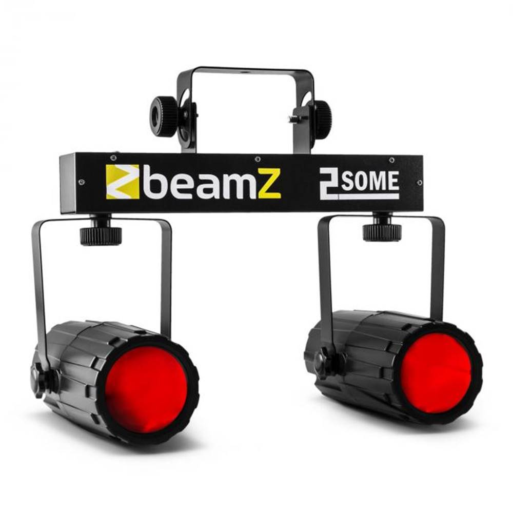 Beamz Beamz 2-Some, sada dvoch LED-reflektorov v RGBW s mikrofónom