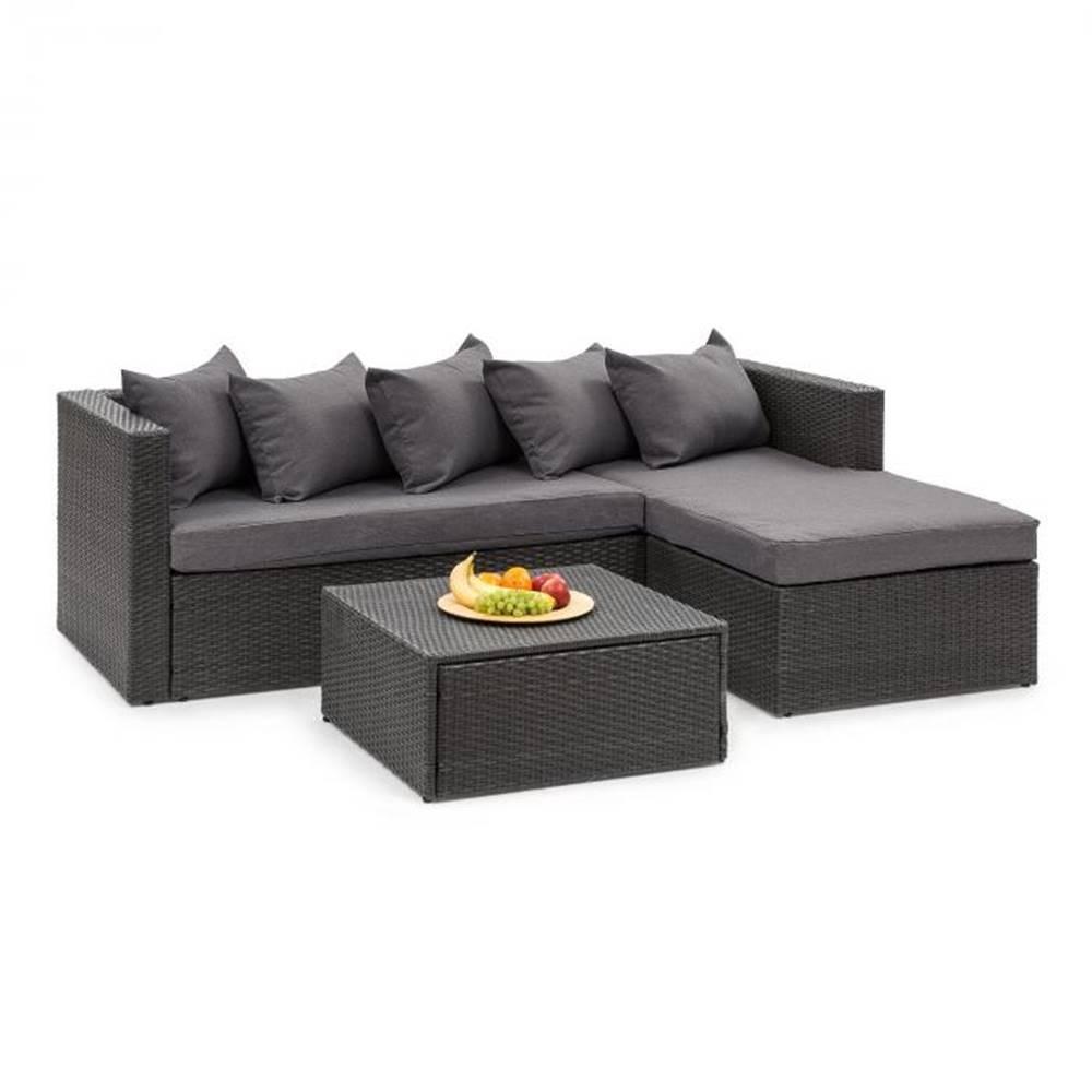 Blumfeldt Blumfeldt Theia Lounge Set, záhradná sedacia súprava, čierna/tmavosivá