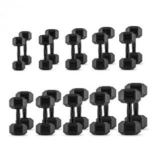 Capital Sports Hexbell Set, 10 párov jednoručných činiek: 5 až 30 kg, čierne