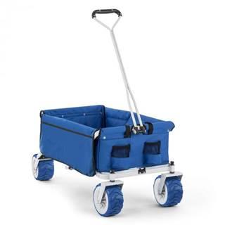 Waldbeck The Blue, ručný vozík, skladací, 70 kg, 90 l, kolesá Ø 10 cm, modrý
