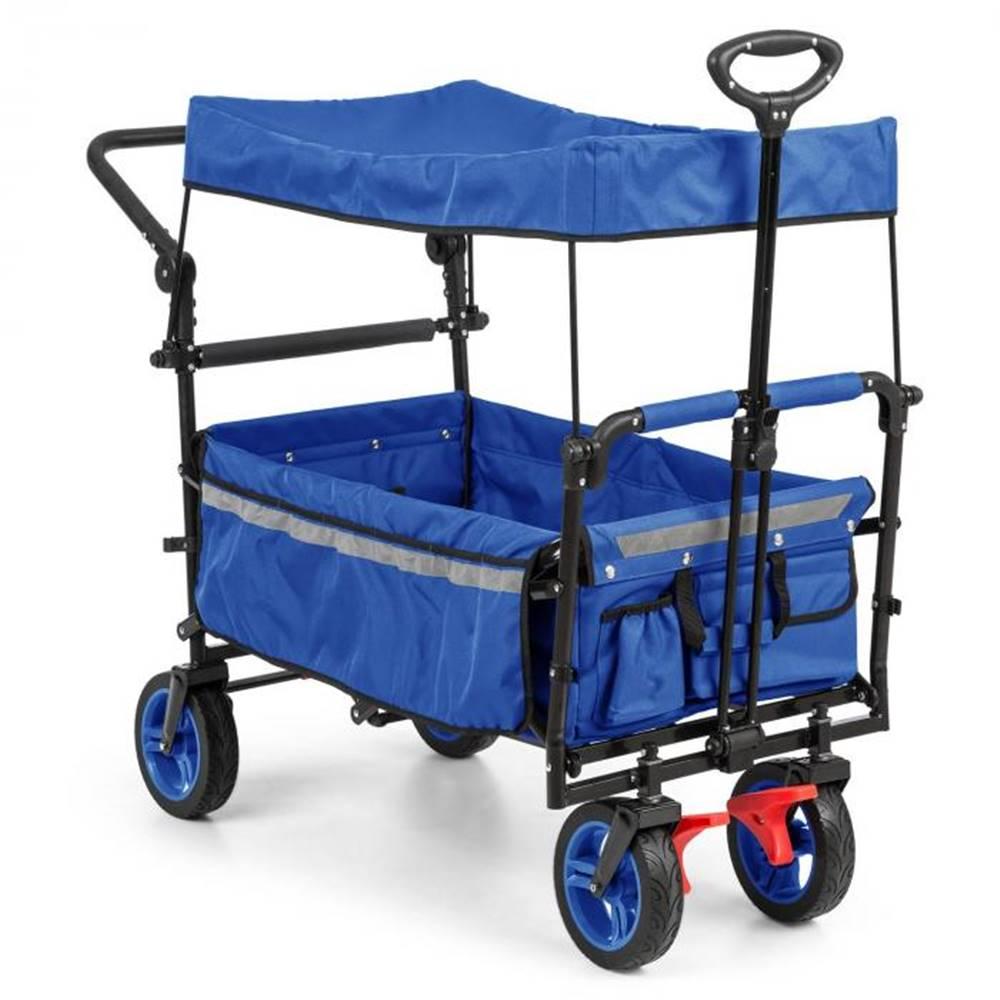 Waldbeck Waldbeck Easy Rider, ťahací vozík so strieškou, do 70 kg, teleskopická tyč, modrý