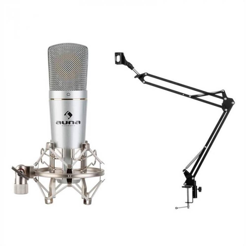 Auna Auna MIC-920, USB, mikrofónový set, V3, kondenzátorový mikrofón, otočné rameno, ochranná taška