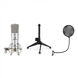 Auna MIC-920, USB mikrofónová sada V1, kondenzátorový mikrofón, statív, pop filter, kardioidná smerová charakteristika