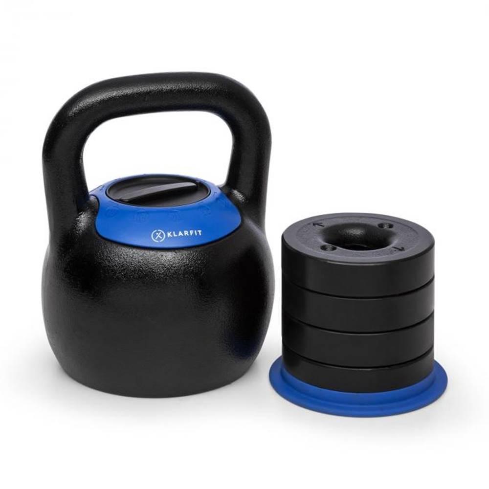 KLARFIT KLARFIT Adjustabell, nastaviteľný kettlebell, 16/18/20/22/24 kg, čierny/modrý