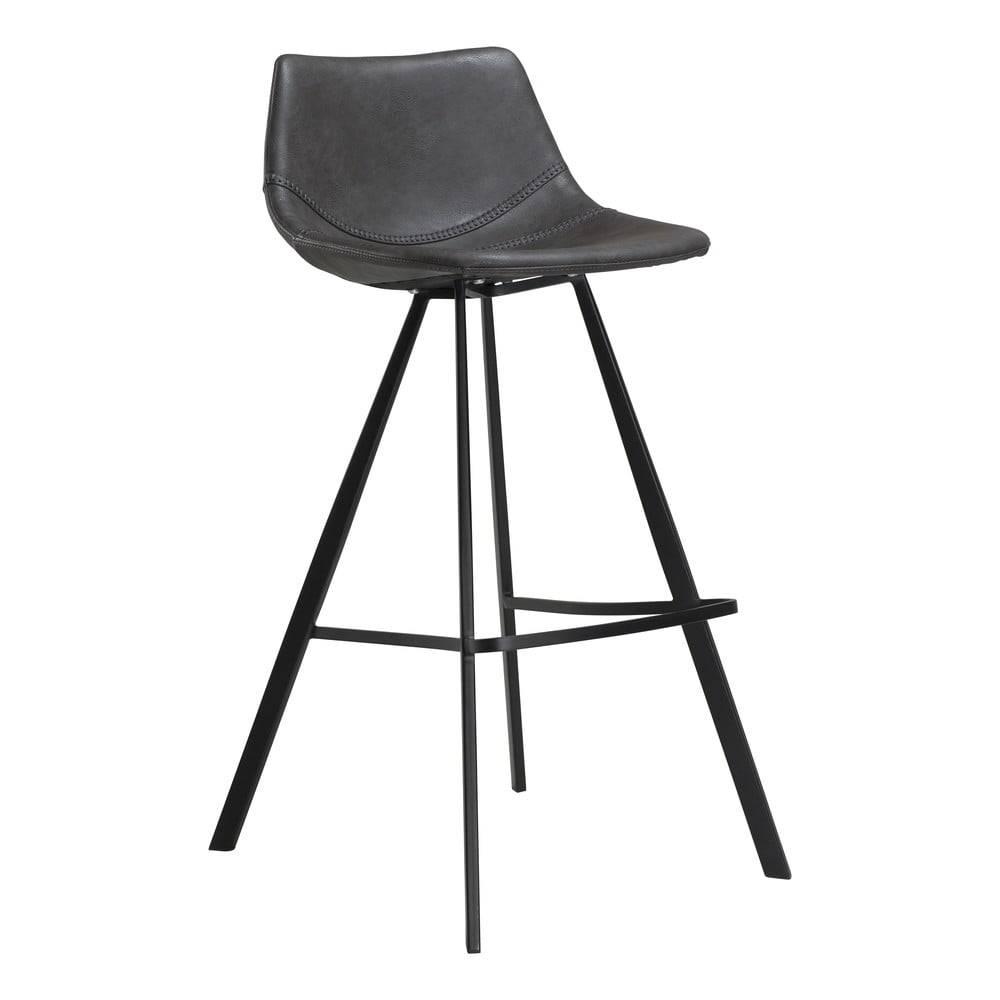 Sivá barová stolička z eko ...